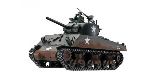 Р/У танк Torro Sherman M4A3, 1/16  2.4G, ИК-пушка, деревянная коробка 4