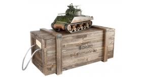Р/У танк Torro Sherman M4A3, 1/16  2.4G, ВВ-пушка, деревянная коробка 1