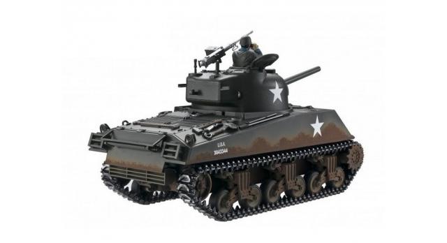 Р/У танк Torro Sherman M4A3, 1/16  2.4G, ВВ-пушка, деревянная коробка 3