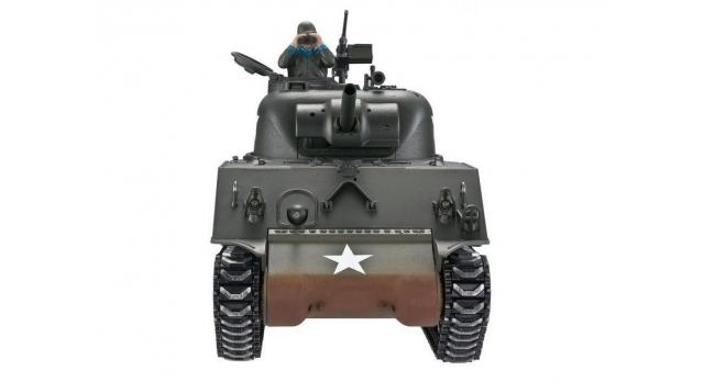 Р/У танк Torro Sherman M4A3, 1/16  2.4G, ВВ-пушка, деревянная коробка 5