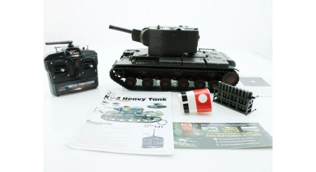 P/У танк Torro КВ-2 1/16  2.4G, СССР, зеленый, ИК-пушка, деревянная коробка 16