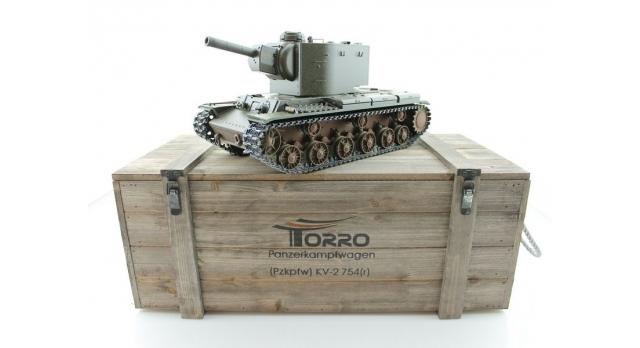 P/У танк Torro КВ-2 1/16  2.4G, СССР, зеленый, ИК-пушка, деревянная коробка 17