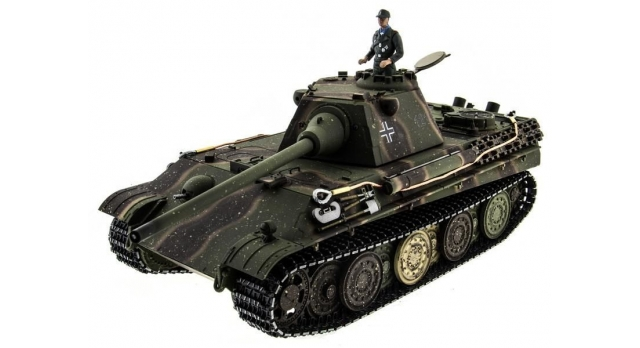 Р/У танк Taigen 1/16 Panther type F (Германия) HC версия, башня на 360, подшипники в ред., 2.4G RTR 1