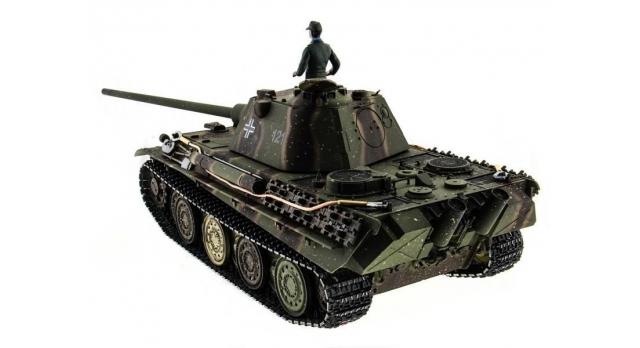 Р/У танк Taigen 1/16 Panther type F (Германия) HC версия, башня на 360, подшипники в ред., 2.4G RTR 3