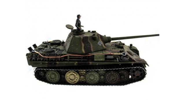 Р/У танк Taigen 1/16 Panther type F (Германия) HC версия, башня на 360, подшипники в ред., 2.4G RTR 6