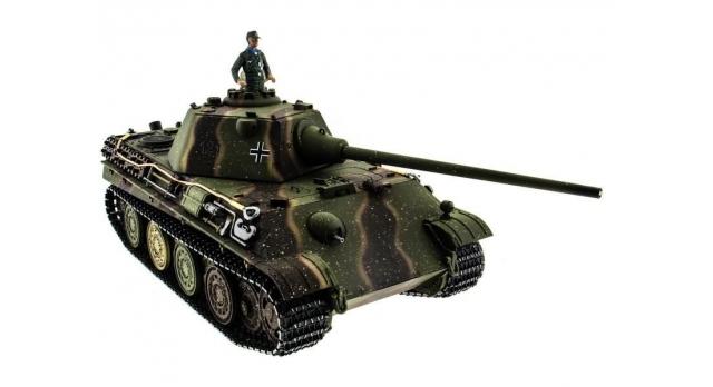 Р/У танк Taigen 1/16 Panther type F (Германия) HC версия, башня на 360, подшипники в ред., 2.4G RTR 7