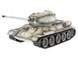 Р/У танк Taigen 1/16 T34-85 (СССР) (для ИК танкового боя) 2.4G (зимний)