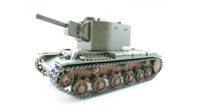 P/У танк Torro КВ-2 1/16  2.4G, СССР, зеленый, ВВ-пушка, деревянная коробка 10