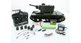 P/У танк Torro КВ-2 1/16  2.4G, СССР, зеленый, ВВ-пушка, деревянная коробка 15