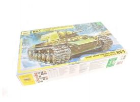 Сборная модель ZVEZDA Советский тяжелый танк образца 1940 г. с пушкой Л-11 КВ-1, 1/35