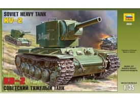 Сборная модель ZVEZDA Советский тяжёлый танк КВ-2, 1/35