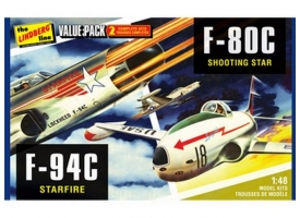 Склеиваемая модель Hawk Lindberg 1/48 2 pack US Korean War Fighte