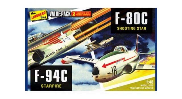 Склеиваемая модель Hawk Lindberg 1/48 2 pack US Korean War Fighte 1