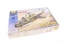 Сборная модель ZVEZDA Советский ударный вертолет Ми-24А, 1/72