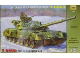 Сборная модель ZVEZDA Российский основной боевой танк Т-80УД, 1/35