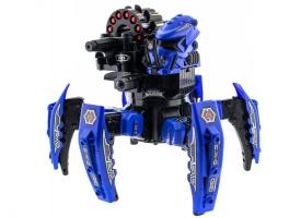 Р/У боевой робот-паук Space Warrior, лазер, ракеты, синий, Ni-Mh и З/У, 2.4G