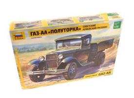 """Сборная модель ZVEZDA Советский армейский грузовик """"Полуторка"""" (ГАЗ-АА), 1/35"""
