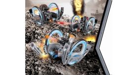 Р/У боевая машина Universe, лазер, диски, оранжевая, Ni-Mh и З/У, 2.4G 3