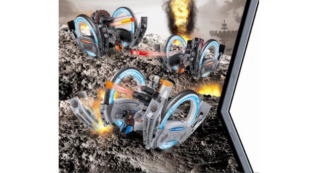Р/У боевая машина Universe, лазер, ракеты, голубая, Ni-Mh и З/У, 2.4G 3