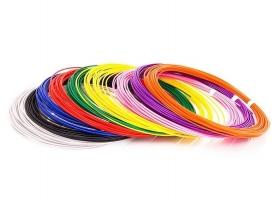 ABS пластик для 3D ручек (9 цветов по 10 метров, d1.75 мм)