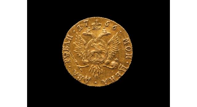 Два рубля 1756 г. Елизавета /  Оригинал [нум-13]
