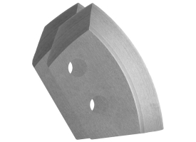 Ножи для ледобура полукруглые универсальные, d130 мм (набор 2 шт.) нерж.