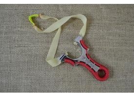 Рогатка широкая, рукоять металл в красной оплетке, 8*12 см