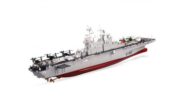 Радиоуправляемый корабль Heng Tai десантный корабль Wasp  2.4G 1/350 3