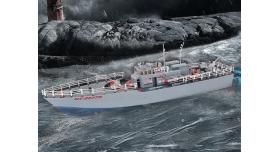 Радиоуправляемый корабль Heng Tai торпедный катер 2.4G 1/115 2
