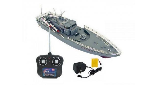 Радиоуправляемый корабль Heng Tai торпедный катер 2.4G 1/115 3
