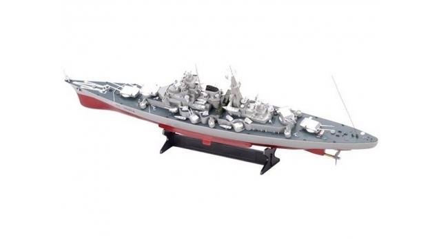 Радиоуправляемый корабль Heng Tai линкор Бисмарк 2.4G 1/360 3