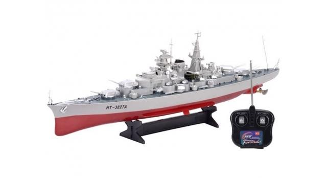 Радиоуправляемый корабль Heng Tai линкор Бисмарк 2.4G 1/360 4