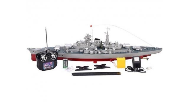 Радиоуправляемый корабль Heng Tai линкор Бисмарк 2.4G 1/360 5