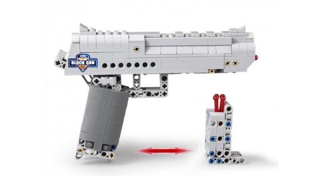 Конструктор CADA deTech пистолет Desert Falcon (307 деталей) 6