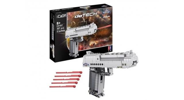 Конструктор CADA deTech пистолет Desert Falcon (307 деталей) 10