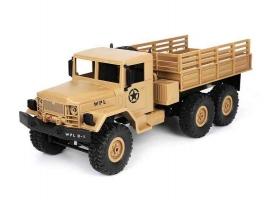 Радиоуправляемая машина WPL военный грузовик (песочный) 6WD 2.4G 1/16 RTR