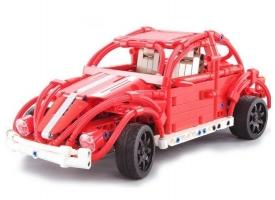 Радиоуправляемый конструктор CADA deTech ретро-автомобиль жук (472 детали)