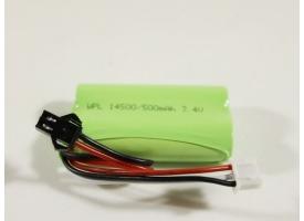Аккумулятор Li-Ion 500mAh, 7.4V для автомоделей WPL B-14, B-24, C-14, C-24, B-16, B-36 1