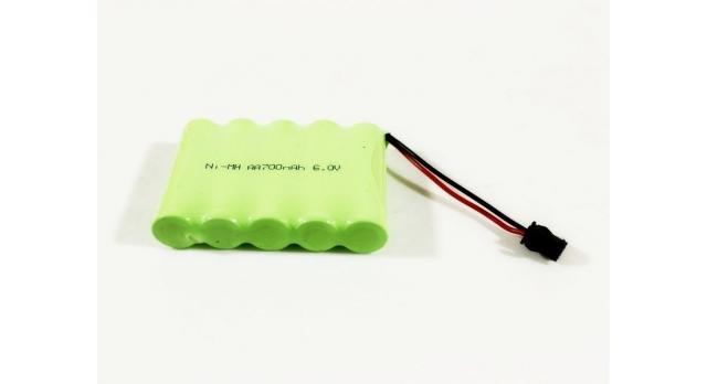 Аккумулятор Ni-Mh 700mAh, 6V для автомоделей WPL (без пропорционального серво) B-14, B-24, C-14, C-24, B-16, B-36 1