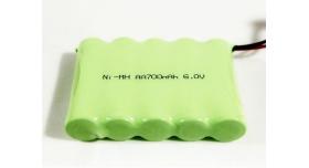 Аккумулятор Ni-Mh 700mAh, 6V для автомоделей WPL (без пропорционального серво) B-14, B-24, C-14, C-24, B-16, B-36 2