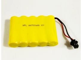 Аккумулятор Ni-Cd 700mAh, 6V для автомоделей WPL B-14, B-24, C-14, C-24, B-16, B-36 (без пропорционального серво)