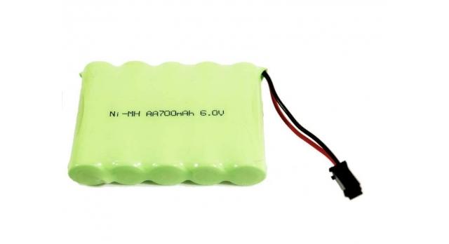 Аккумулятор Ni-Mh 700mAh, 6V для автомоделей WPL (без пропорционального серво) B-14, B-24, C-14, C-24, B-16, B-36 4