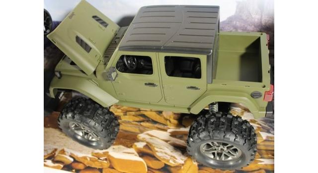 Радиоуправляемый краулер Double Eagle JEEP 1:14 4WD 2.4G (кузов пикап) 6