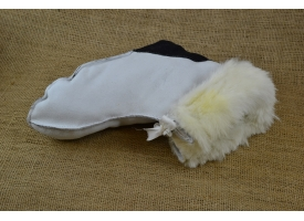 Меховые носки из натуральной овчины (унтята)/Из шубной некрашеной овчины, размер 37-45 [сн-401]
