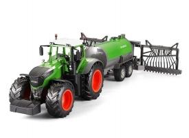 Радиоуправляемый сельскохозяйственный трактор с поливальной установкой Double Eagle 1:16, поливает водой