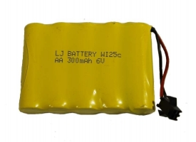 Аккумулятор Ni-Cd 300mAh, 6V, SM для Double Eagle E549-003, E712-003, E713-003