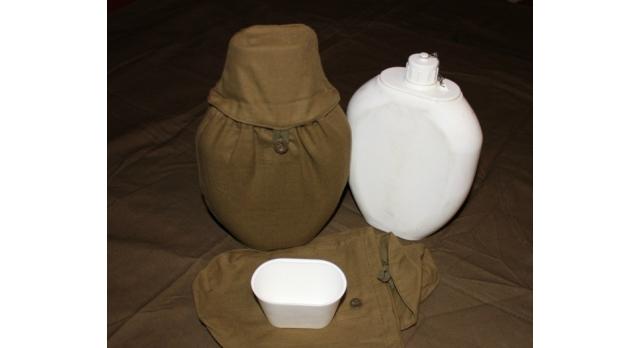 """Фляга """"Афган"""", пластиковая в чехле/объём 1,5 литра [сн-402]"""