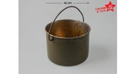 Армейский котелок / Оригинал склад круглый диаметр 16 см [сн-299]