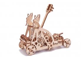 Механический 3D-пазл из дерева  Катапульта