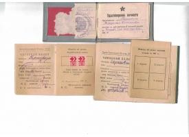 Комплект из трех документов на Гаришвили В.С.